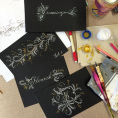 """joi hunt on Instagram: """"thank you @heathervictoria1 for a wonderful weekend workshop! today we got our flourish on and it was so much fun, i could have continued for hours...i love calligraphy!!!"""""""