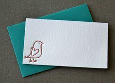 Bird Letterpress Enclosure Card
