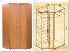 Шкаф угловой двухдверный универсальный № 145