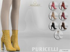 Madlen Puricelli Boots by MJ95 at TSR • Sims 4 Updates