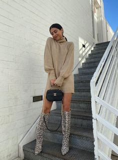 Winter Fashion Outfits, Fall Winter Outfits, Autumn Winter Fashion, Fall Fashion, Winter Style, Sweater Dress Outfit, Casual Dress Outfits, Sweater Dresses, Edgy Outfits