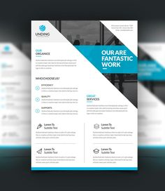Oceanus Professional Corporate Flyer Template   Graphic