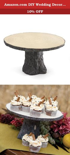 Amazon.com DIY Wedding Decor Ideas: Hortense B. Hewitt Rustic Log Cake Stand Wedding Accessories Hortense B. Hewitt #AmazonPrime. Sturdy rustic cake stand formed in the shape of a sawed log. Perfect matched to Hortense B. Hewitt's Rustic Romance Collection. Each bride is unique and the key to finding everything she wants is an extensive selection with options to coordinate. Take a look at what Hortense B. Hewitt has to offer and you won't be disappointed. With more than 60 years…