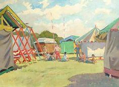Hugo Fleury, Funfair Village Fete, Genealogy, Park, Painting, Image, Painting Art, Family Tree Chart, Parks, Paintings