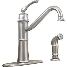 Moen 87999 High-Arc Kitchen Faucet with Side Spray from the Wetherly Collection, Spot Resist Stainless Moen http://www.amazon.com/dp/B006E354QM/ref=cm_sw_r_pi_dp_Vurzub1VENZP7