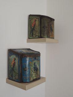 Two old toffee tins, Van Melle