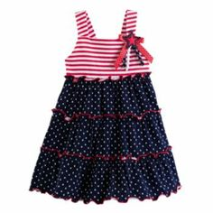 Sophie Rose Stars & Stripes Tiered Dress - Toddler-So perfect for Fourth of July!