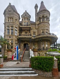 Galveston's grandest and best-known building, the Bishop's Palace is an ornate delight of colored stone, intricately carved ornaments, rare woods, stained-glass windows, bronze dragons and other sculptures, luxury materials and furnishings, and impressive fireplaces from around the world (including one lined with pure silver!).