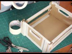 DIY - Caixa de feira com papelão  #modelo1  ✂️ Artesanato  #23