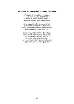 """""""El poeta recuerda las tierras de Soria"""", en este poema el autor, Antonio Machado, intenta dar una descripción subjetiva del paisaje de Soria donde destaca la miseria y la pobreza."""