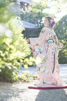 くくる(CUCURU)  桃色刺繍花車