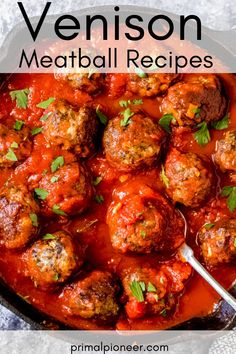 These ground venison meatballs are a classic Italian meatball recipe. They're the perfect meatballs for spaghetti or meatball subs – a versatile and easy ground venison recipe. Cooking With Ground Venison, Ground Venison Recipes, Meatball Subs, Meatball Recipes, Sausage Recipes, Venison Meatballs, Elk Recipes, Weekday Meals, Spaghetti And Meatballs