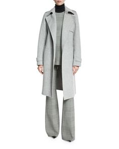 Top,+Pants,+Plaid+Top,+&+Coat+by+Theory+at+Neiman+Marcus.