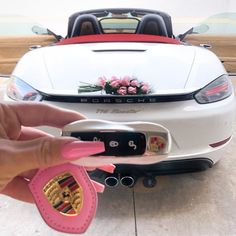 Porsche Car and Pink Nails Porsche Carrera, Porsche Panamera, Fancy Cars, Cute Cars, My Dream Car, Dream Cars, Porsche Logo, Porsche Girl, Porsche Cayenne