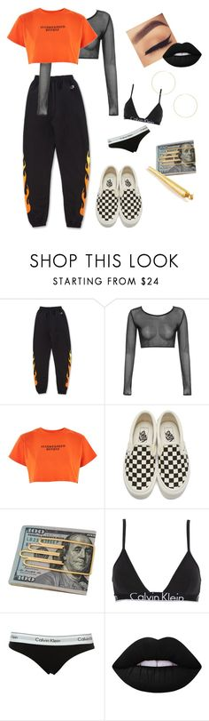 """""""playclothes"""" by sroconor97 ❤ liked on Polyvore featuring Illustrated People, Vans, Cartier, Calvin Klein Underwear, Calvin Klein, Lime Crime and 8 Other Reasons"""