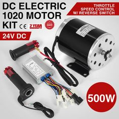 DC Electric Motor& Switch &control &Throttle E-Scooter 11 Teeth Razor Electric Kart, Electric Bike Kits, Electric Motor, Diy Electric Skateboard, Motor Speed, Chain Drive, E Scooter, Engin, Control