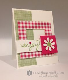 Stampin up stamping stamp it pretty mary fish mojo monday gingham garden simple celebrate