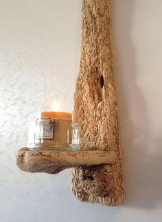 Driftwood Sconce  Candle holder  Art  Crafts  by COASTLINECRAFTS