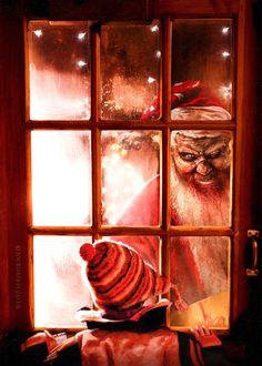 Evil Santa Christmas Card by Joe-Roberts.deviantart.com on @DeviantArt