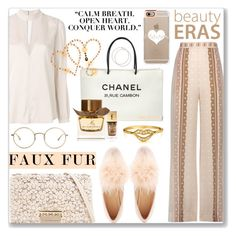 """""""Wow Factor- Faux Fur: 23/09/17"""" by pinky-chocolatte ❤ liked on Polyvore featuring ZAC Zac Posen, Jonathan Simkhai, A.L.C., Chanel, Bling Jewelry, Charlotte Russe, Yves Saint Laurent, Burberry, The Row and Casetify"""