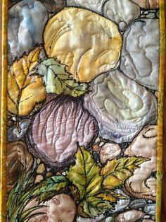 Quilted silk painting by JulieAnne.