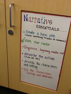 The third graders are learning the essentials in a narrative.