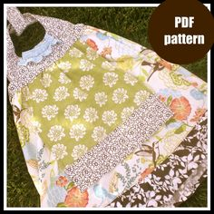 PDF sewing pattern, The Grace Apron Dress  sizes 12m-8, girls toddler baby. $6.00, via Etsy.