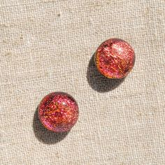 Dichroic Glass Stud Earrings Fused Glass Jewelry by IntoTheLight, $11.50