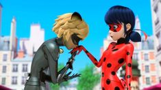 """""""The most Miraculous adventures of Ladybug and Cat Noir continue! Paris' favorite crime-fighting duo return in a new volume of the action-adventure, romantic comedy that will have you on the edge of your seat.  The action-packed CGI animated TV series Miraculous™: Tales of Ladybug & Cat Noir: It's Ladybug! will be available on DVD April 11, 2017, from Shout! Kids, in collaboration with ZAG. This release includes six amazing episodes on DVD and a Ladybug paper doll, while supplies last."""
