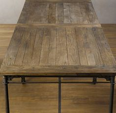 I LOVE this dining table ... industrial and rustic