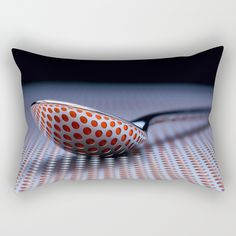 RED Rectangular Pillow by abeerhassan Poplin Fabric, Lumbar Pillow, Accent Decor, Zipper, Contemporary, Pillows, Medium, Room, House