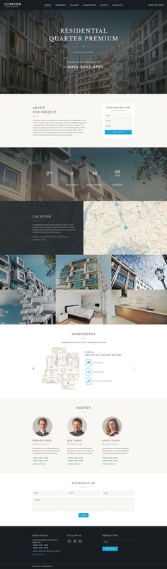 Real Estate Responsive Landing Page Template #58467