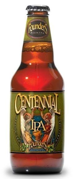 Cerveja Founders Centennial IPA, estilo India Pale Ale (IPA), produzida por Founders Brewing, Estados Unidos. 7.2% ABV de álcool.