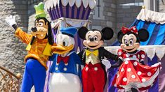 Goofy, Donald Duck, Mickey Mouse and Minnie Mouse posing together in front of Cinderella Castle Disney World Coupons, Disney World Deals, Disney World Guide, Disney World Restaurants, Disney World Florida, Disney World Resorts, Walt Disney World, Disney Dream, Disney Love