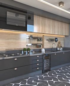 34 What You Need to Do About Best Modern Kitchen Cabinets Ideas - homesuka Modern Kitchen Interiors, Luxury Kitchen Design, Kitchen Room Design, Modern Kitchen Cabinets, Contemporary Kitchen Design, Home Decor Kitchen, Interior Design Kitchen, Contemporary Kitchen Furniture, Kitchen Layout