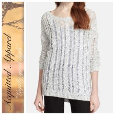 """NWT Vince Cable Lace Knit Sweater Details: - Crew neck - Long sleeves - Braided cable knit construction - Approx. 26"""" length Vince Sweaters Crew & Scoop Necks"""