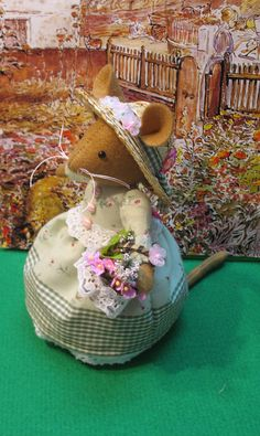 Handmade artist mouse    Inspired by the enchanting tales of Brambly Hedge. $42.00, via Etsy.