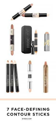 7 new contouring sticks for a slimmer face and more defined cheekbones. (via @byrdiebeauty)