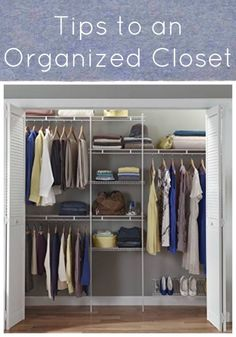 Tips and tools for an organized closet
