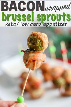 Low carb Brussel Sprouts with bacon - easy keto appetizer recipe Low carb Brussel Sprouts with bacon - easy keto appetizer recipe Bacon Wrapped Brussel Sprouts, Sprouts With Bacon, Brussels Sprouts, Low Carb Appetizers, Appetizer Recipes, Salad Recipes, Snack Recipes, Dessert Recipes, Ketogenic Recipes