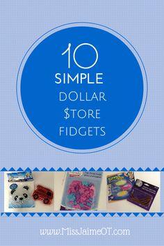 Fidgets, dollar store