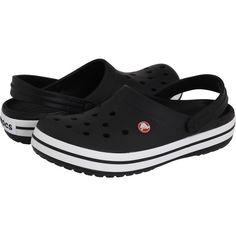 e985542dd3c Crocs Crocband (Black) Clog Shoes (455 ARS) ❤ liked on Polyvore featuring