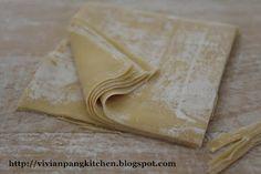 Vivian Pang Kitchen: Homemade Wonton Wrapper (with egg)/云吞皮.