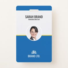 Shop Professional Business Employee ID Badge created by Personalize it with photos & text or purchase as is! Identity Card Design, Id Card Design, Id Design, Business Profile, Business Names, Company Id, Company Logo, Employee Id Card, Lanyard Designs
