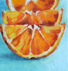 "Daily Paintworks - ""Orange Slices"" - Original Fine Art for Sale - © Stefan Peters"