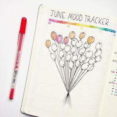 Keep track of your mental health with these incredibly cute mood tracker ideas for your bullet journal! Only the best bullet journal ideas. Bullet Journal Tracker, Planner Bullet Journal, Bullet Journal Spread, Bullet Journal Inspiration, Bullet Journal Birthday Page, Bullet Journal August, Diary Planner, Journal Layout, My Journal