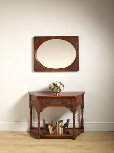 Superieur Old Charm Oval Wall Mirror And Canted Console Table (model OC 2990 U0026 Model  Oak Furniture For The Hallway And Living Space. From Wood Bros (Furniture)  Ltd