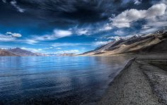 Pangong Tso is an endorheic lake in the Himalayas situated at a height of about m. It extends from India to Tibet. Nature Images, Nature Pictures, Indian Pictures, Tibet, Places To Travel, Places To Visit, Travel Destinations, India Travel Guide, Photo Print