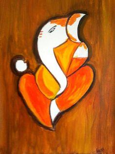 ganesha paintings - Google Search Ganesha Sketch, Ganesha Drawing, Lord Ganesha Paintings, Hindu India, Ganesh Tattoo, Plate Art, Hindu Art, Hinduism, Pictures To Paint
