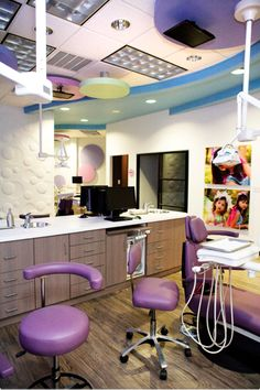 Thiel and Thiel, Inc. | Portfolio › Medical › Children's Dental Care Love kids pictures and ceiling